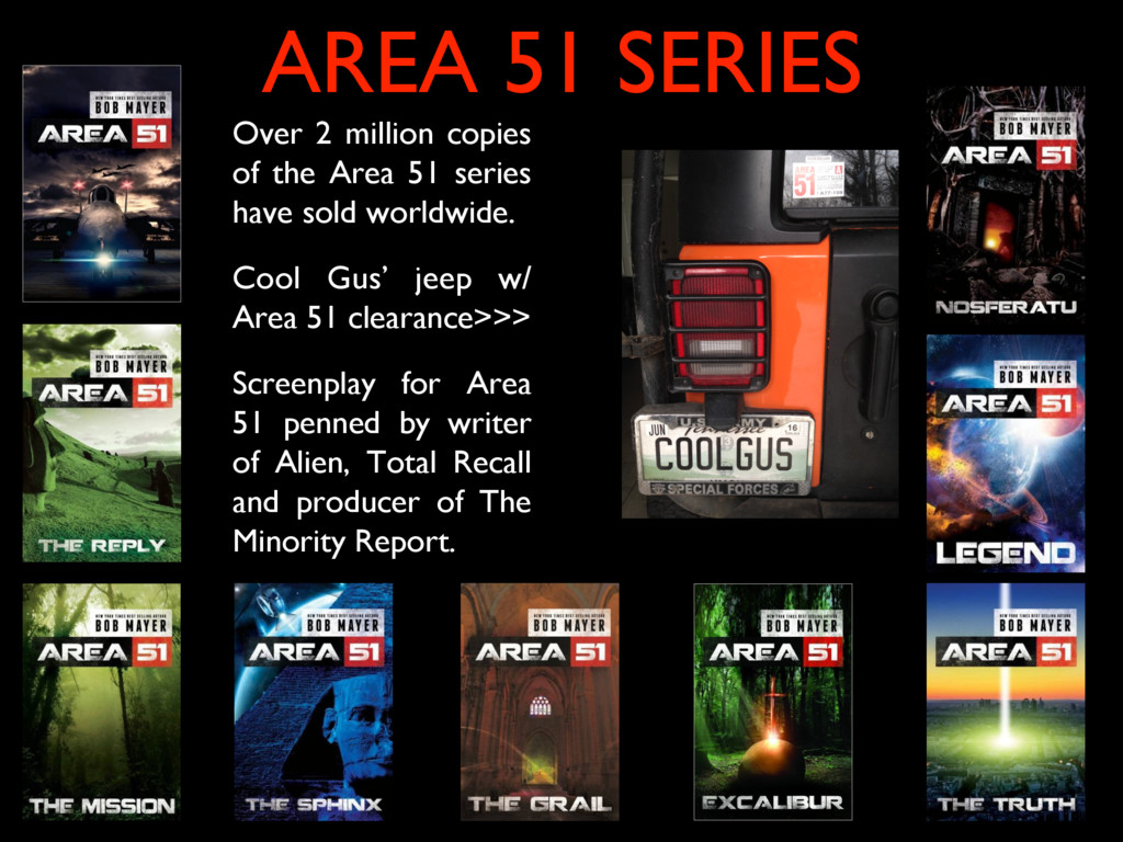 Over 2 million copies of the Area 51 series hav...