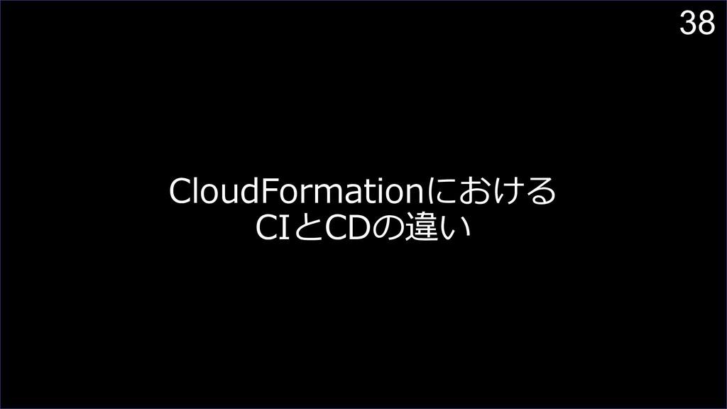 38 CloudFormationにおける CIとCDの違い