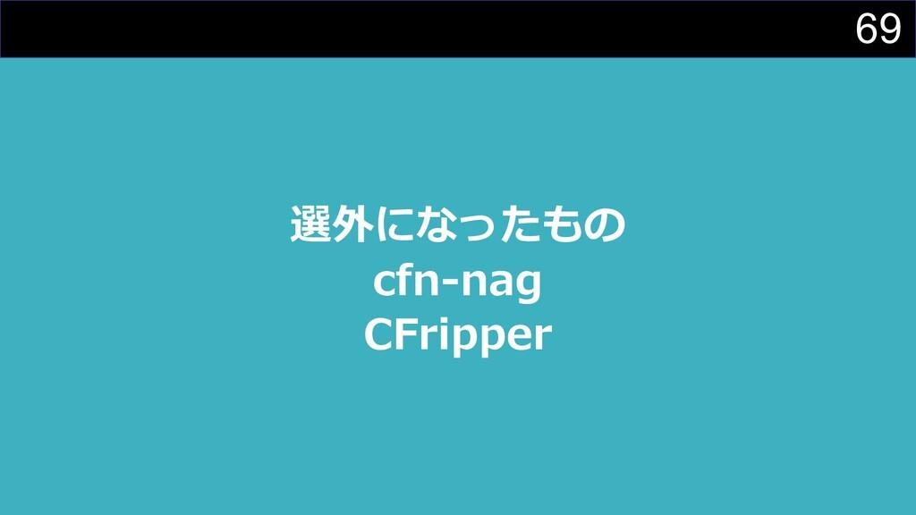 69 選外になったもの cfn-nag CFripper