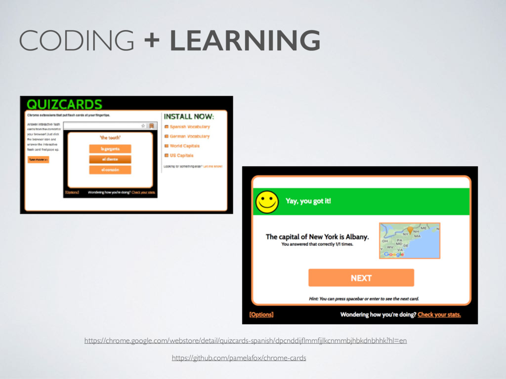 CODING + LEARNING https://chrome.google.com/web...