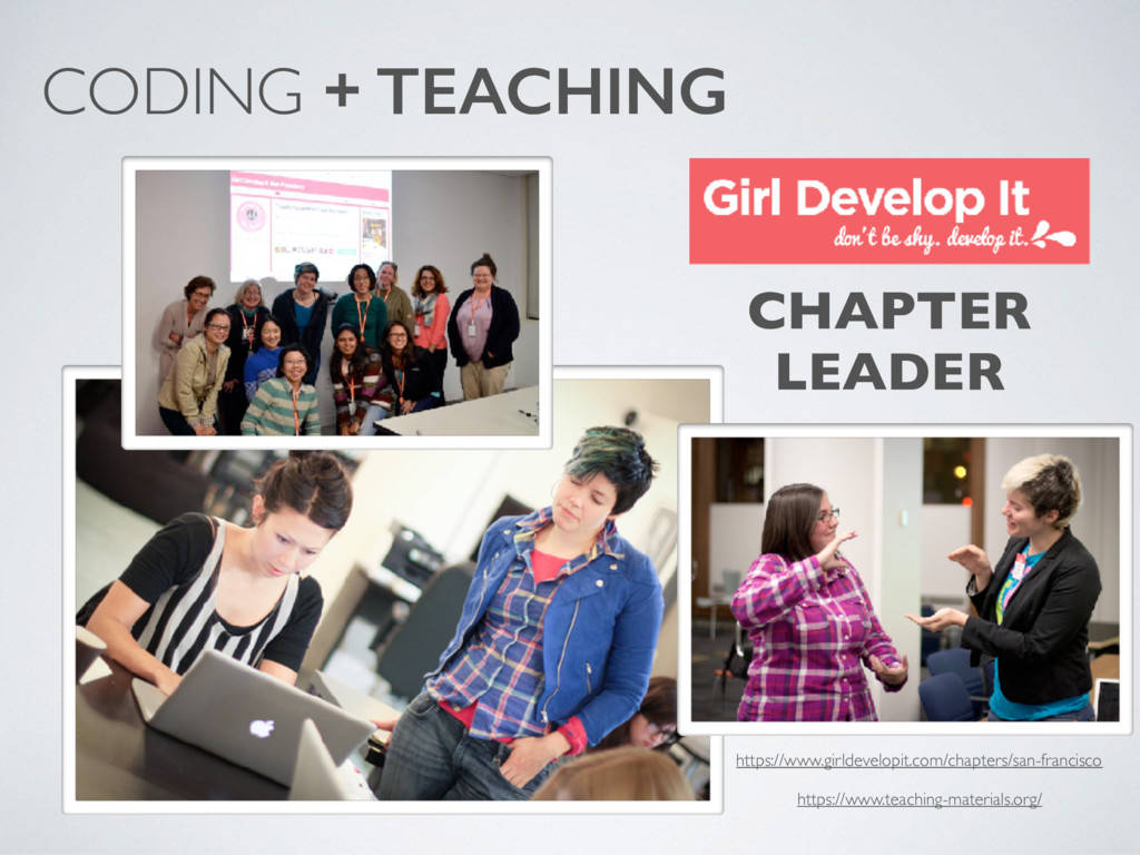 CODING + TEACHING CHAPTER LEADER https://www.gi...
