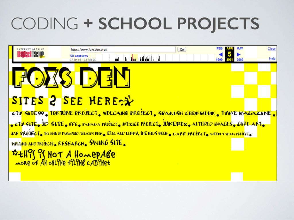 CODING + SCHOOL PROJECTS