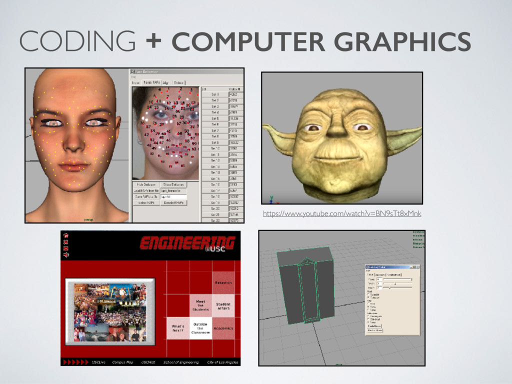 CODING + COMPUTER GRAPHICS https://www.youtube....