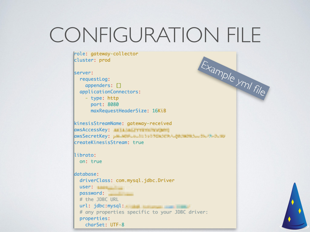 CONFIGURATION FILE Example yml file
