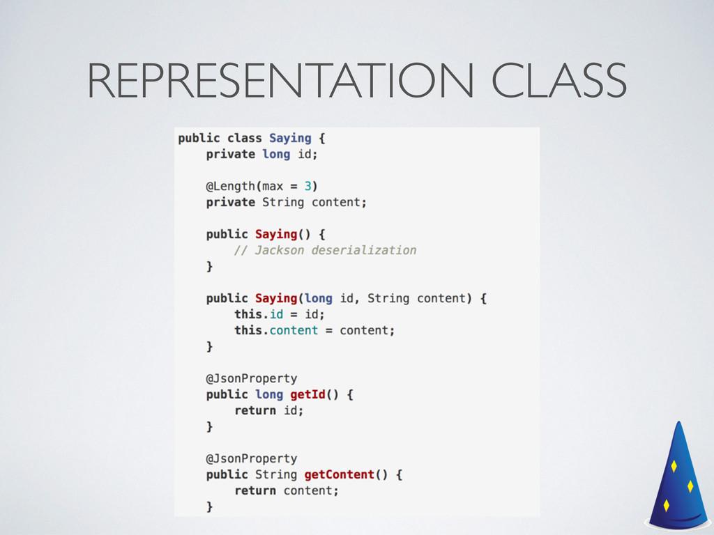 REPRESENTATION CLASS