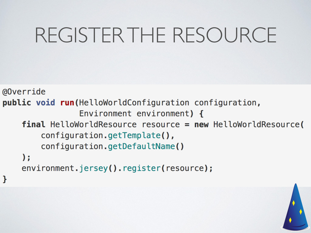 REGISTER THE RESOURCE