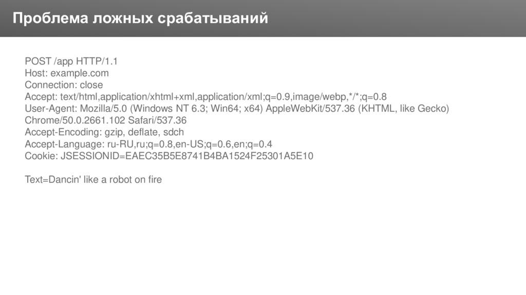 Заголовок Проблема ложных срабатываний POST /ap...