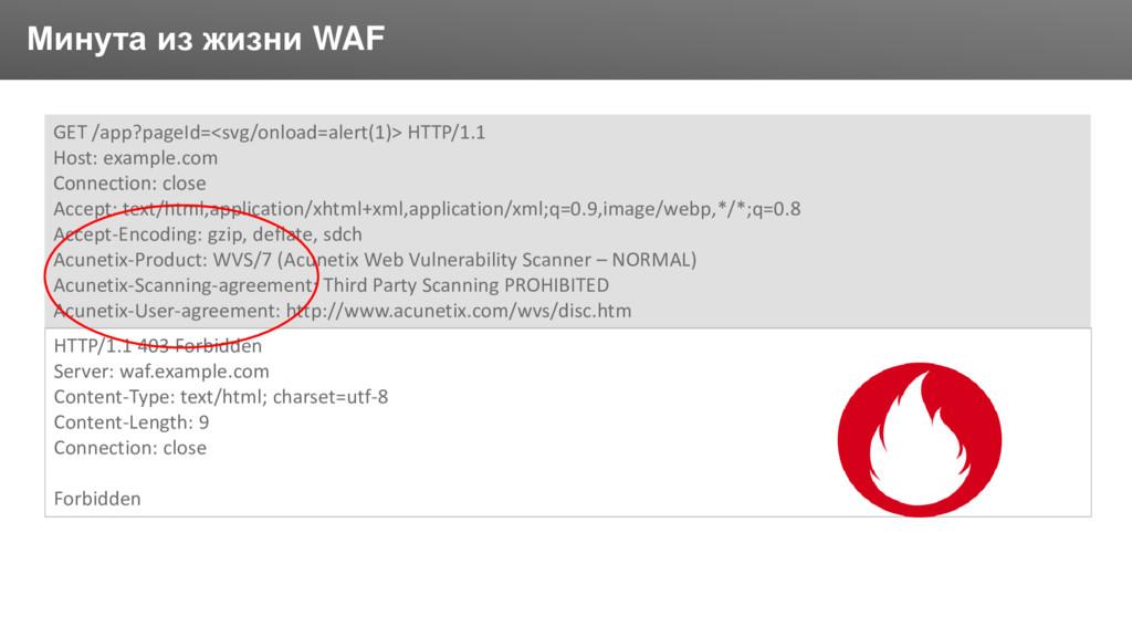 Заголовок Минута из жизни WAF GET /app?pageId=<...