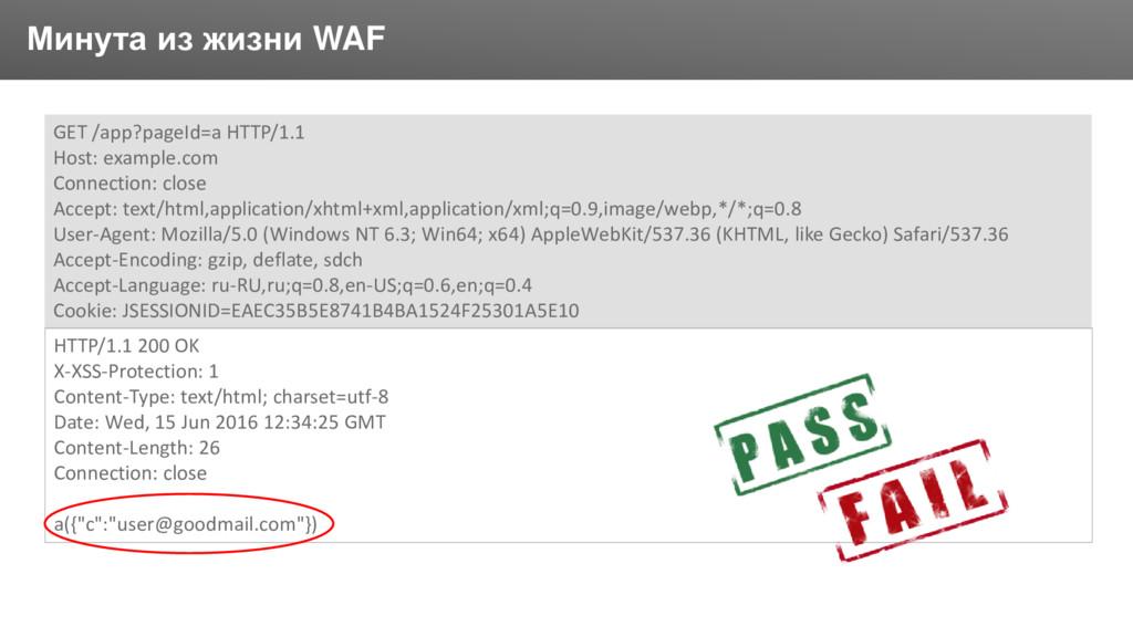 Заголовок Минута из жизни WAF GET /app?pageId=a...
