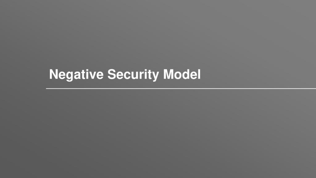 Заголовок Negative Security Model