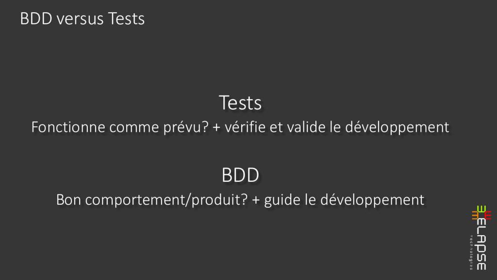 Tests Fonctionne comme prévu? + vérifie et vali...
