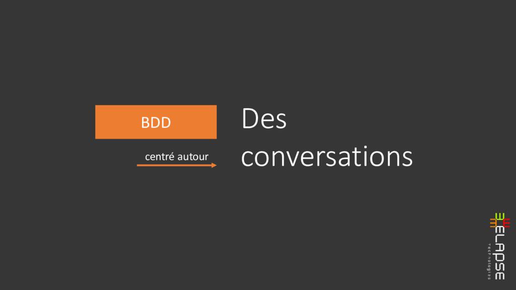 BDD centré autour Des conversations