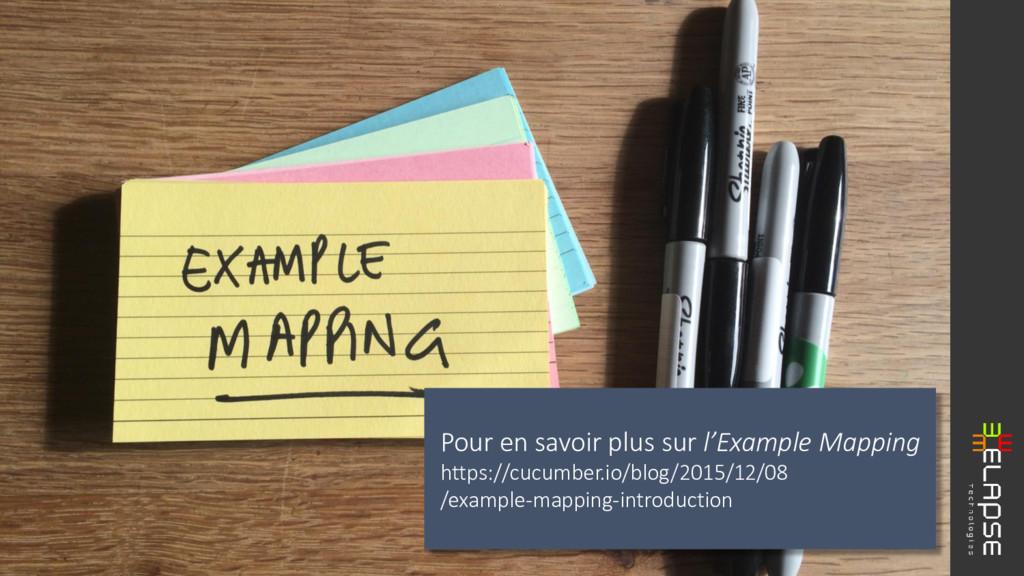 Pour en savoir plus sur l'Example Mapping https...