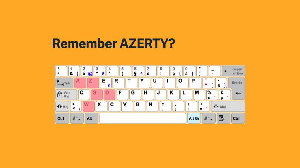 Remember AZERTY?