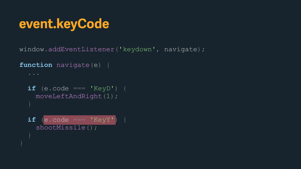 window.addEventListener('keydown', navigate); f...