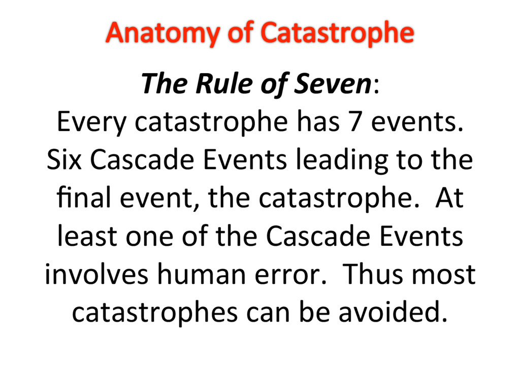 The Rule of Seven: Every catastrophe has 7 even...
