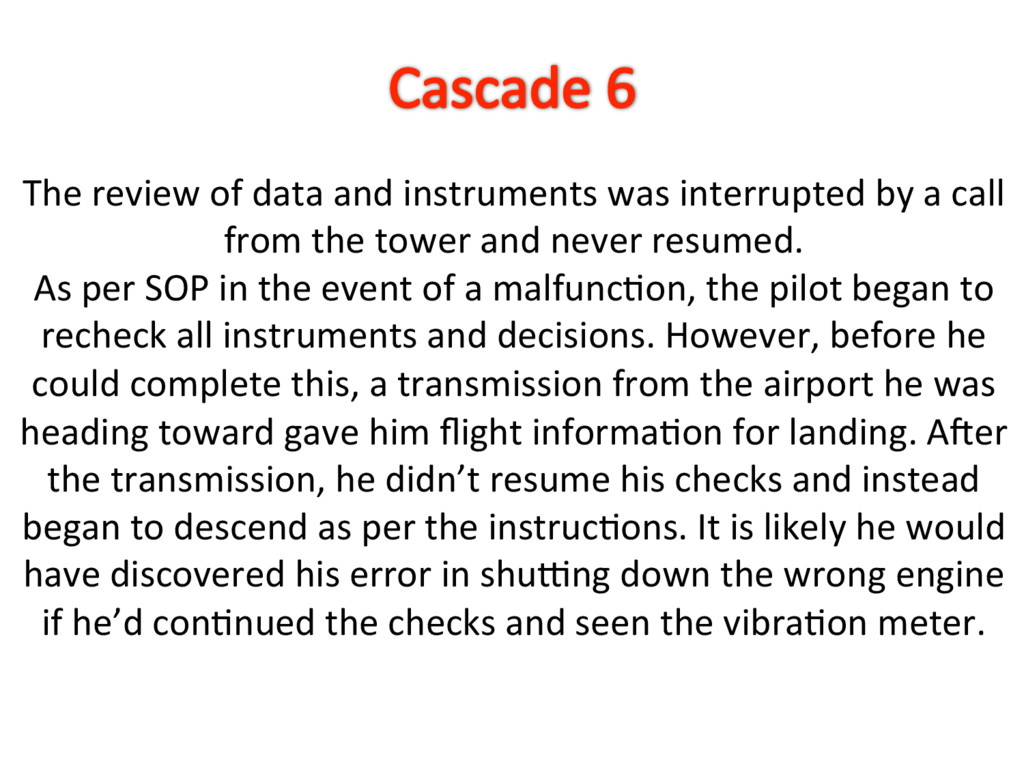 The review of data and instruments was interrup...