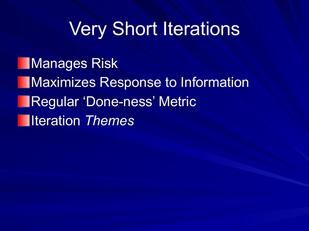 Very Short Iterations Manages Risk Maximizes Re...