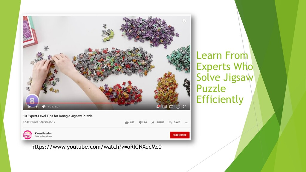 Learn From Experts Who Solve Jigsaw Puzzle Effi...