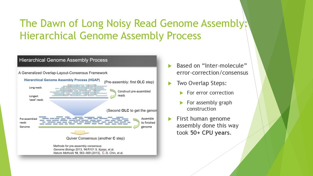 The Dawn of Long Noisy Read Genome Assembly: Hi...