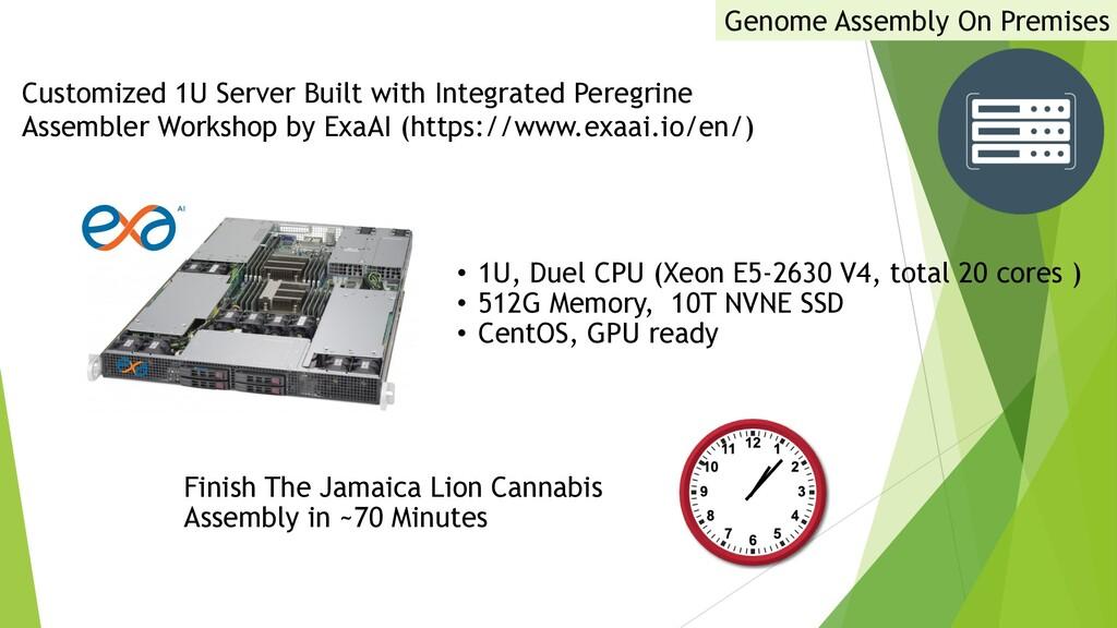 • 1U, Duel CPU (Xeon E5-2630 V4, total 20 cores...