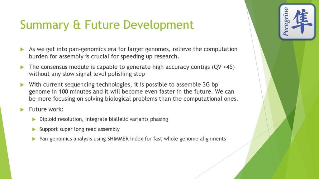 Summary & Future Development u As we get into p...
