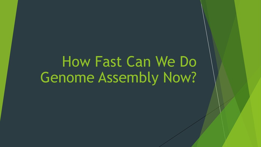 How Fast Can We Do Genome Assembly Now?