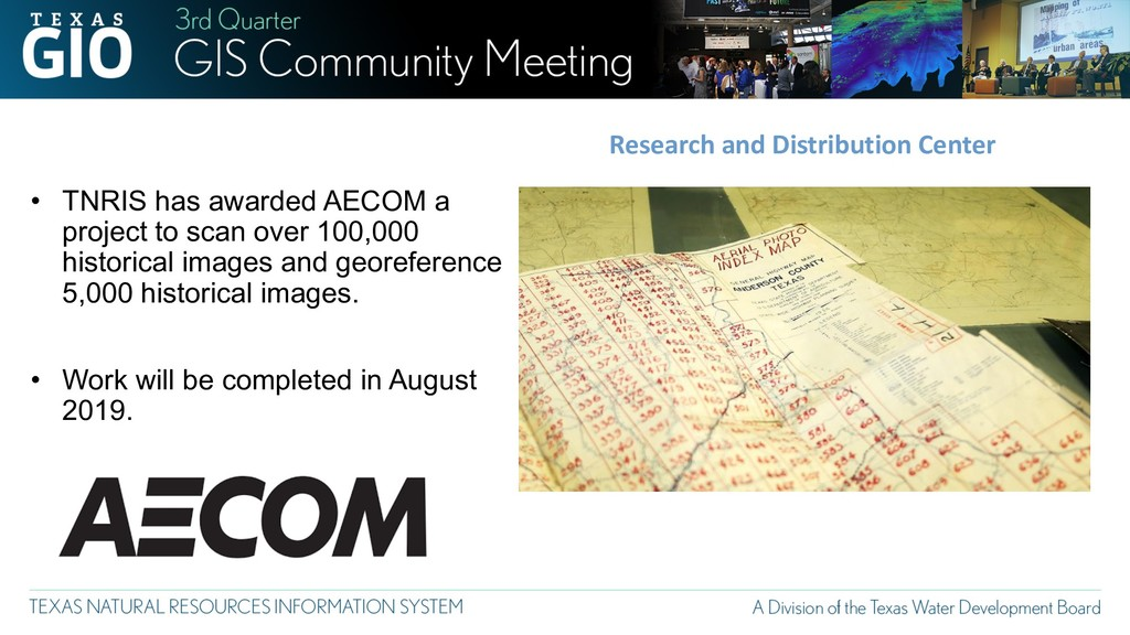 • TNRIS has awarded AECOM a project to scan ove...