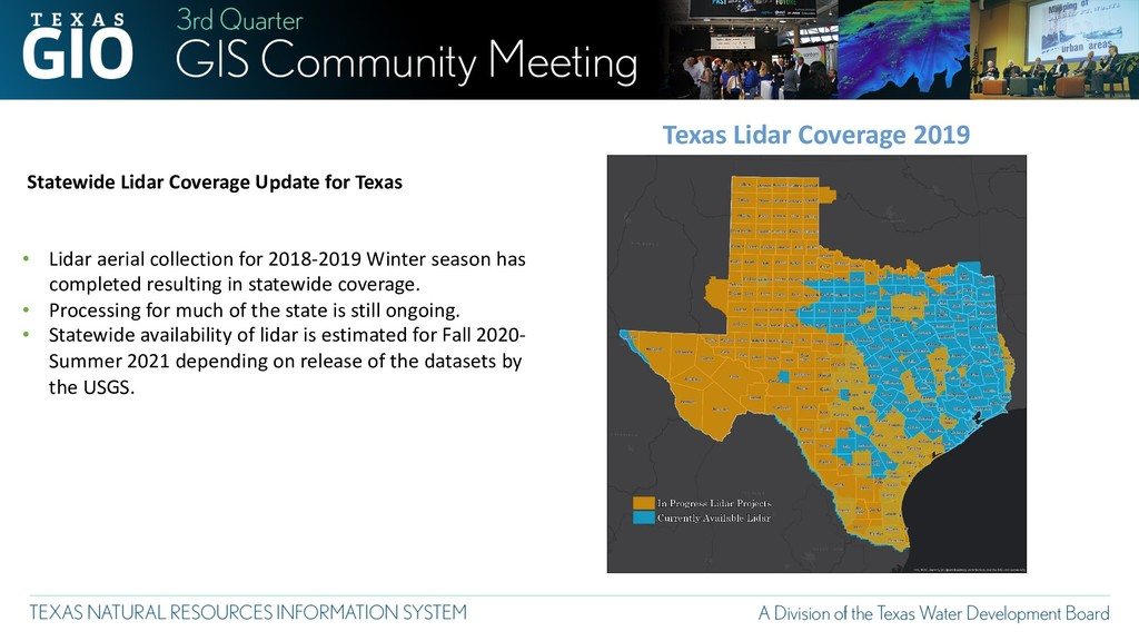 Texas Lidar Coverage 2019 Statewide Lidar Cover...