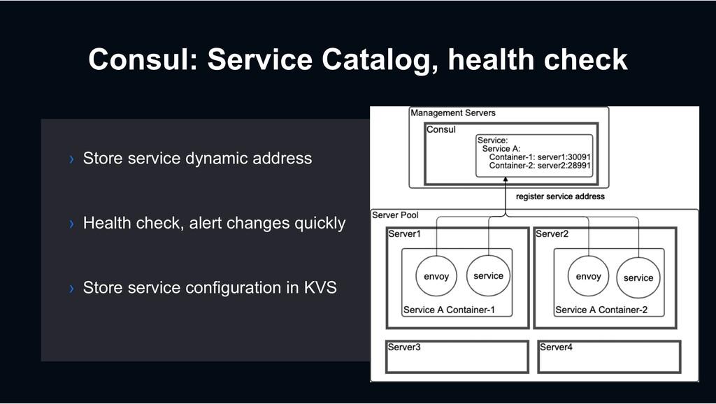 Consul: Service Catalog, health check › Store s...