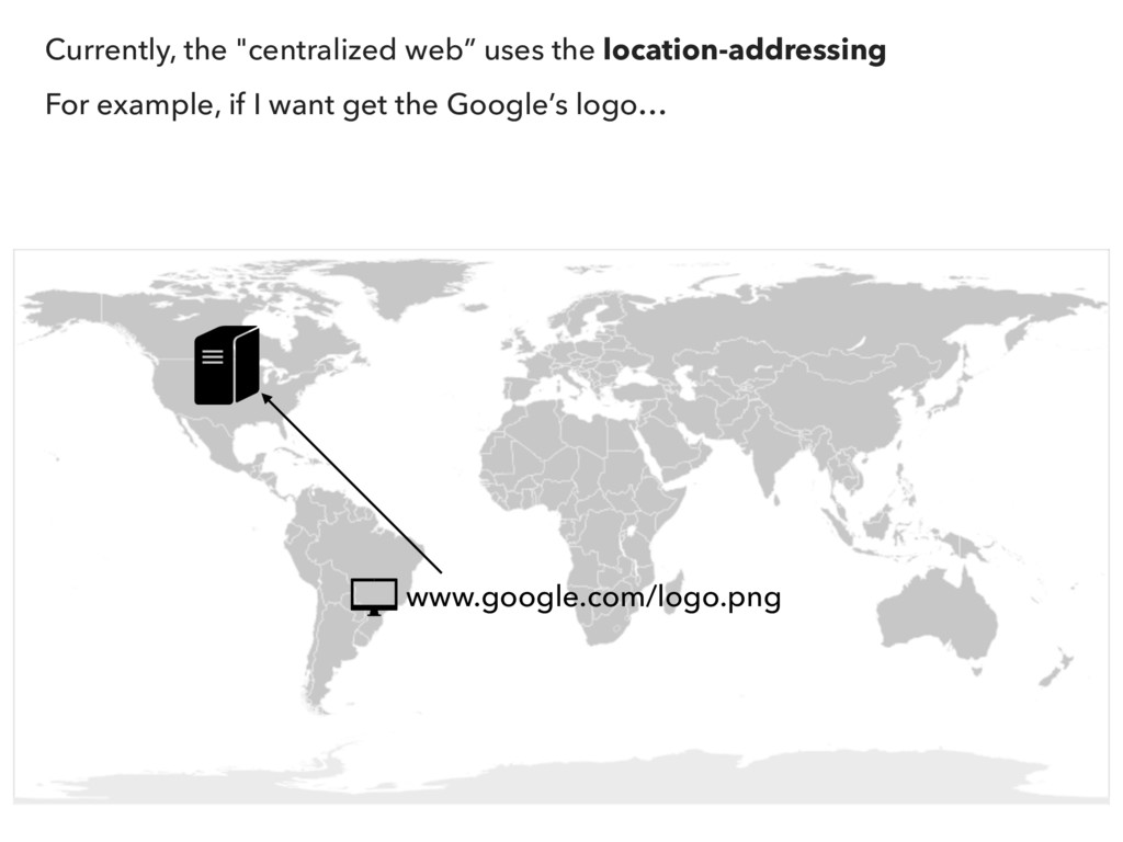 "Currently, the ""centralized web"" uses the locat..."