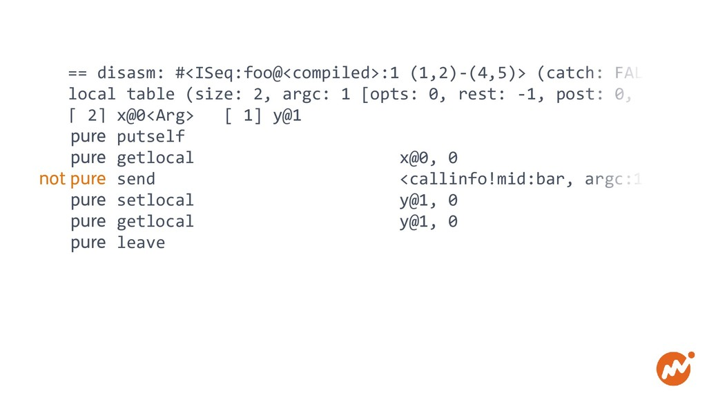 == disasm: #<ISeq:foo@<compiled>:1 (1,2)-(4,5)>...