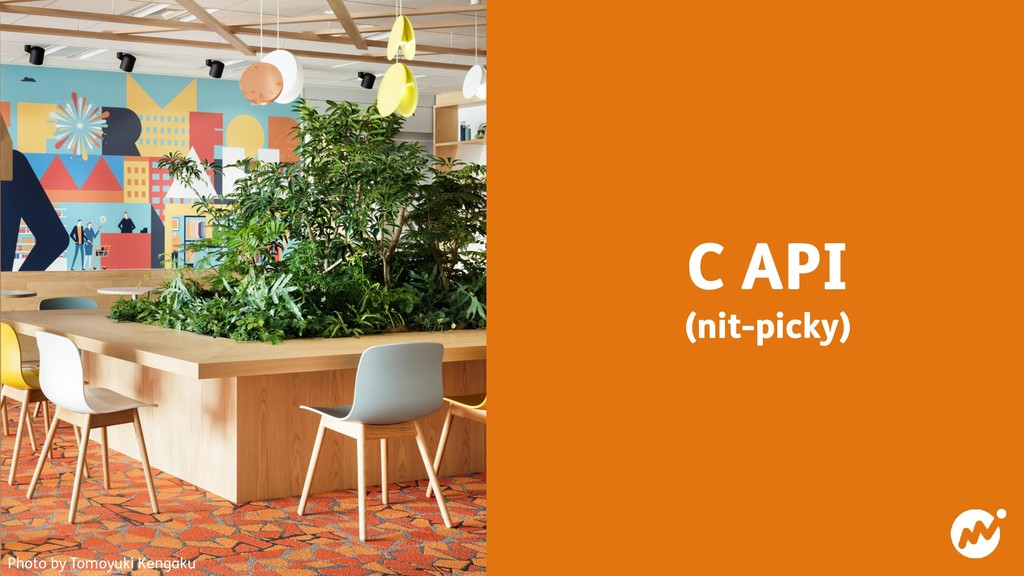 C API (nit-picky) Photo by Tomoyuki Kengaku