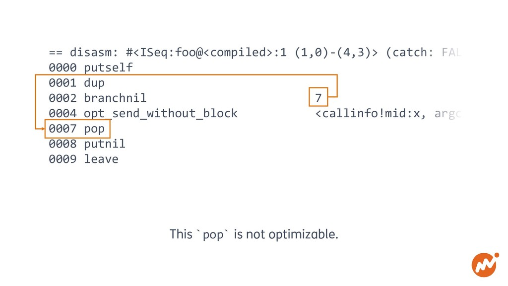 == disasm: #<ISeq:foo@<compiled>:1 (1,0)-(4,3)>...