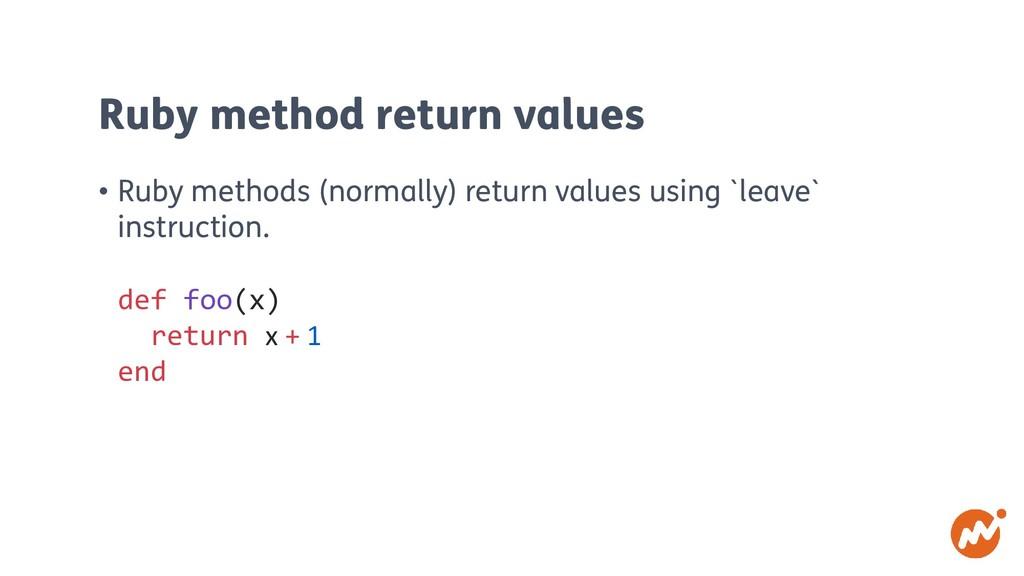 Ruby method return values • Ruby methods (norma...