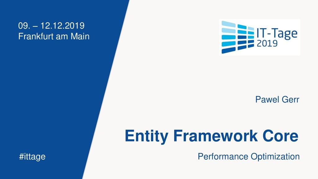 09. – 12.12.2019 Frankfurt am Main #ittage Enti...