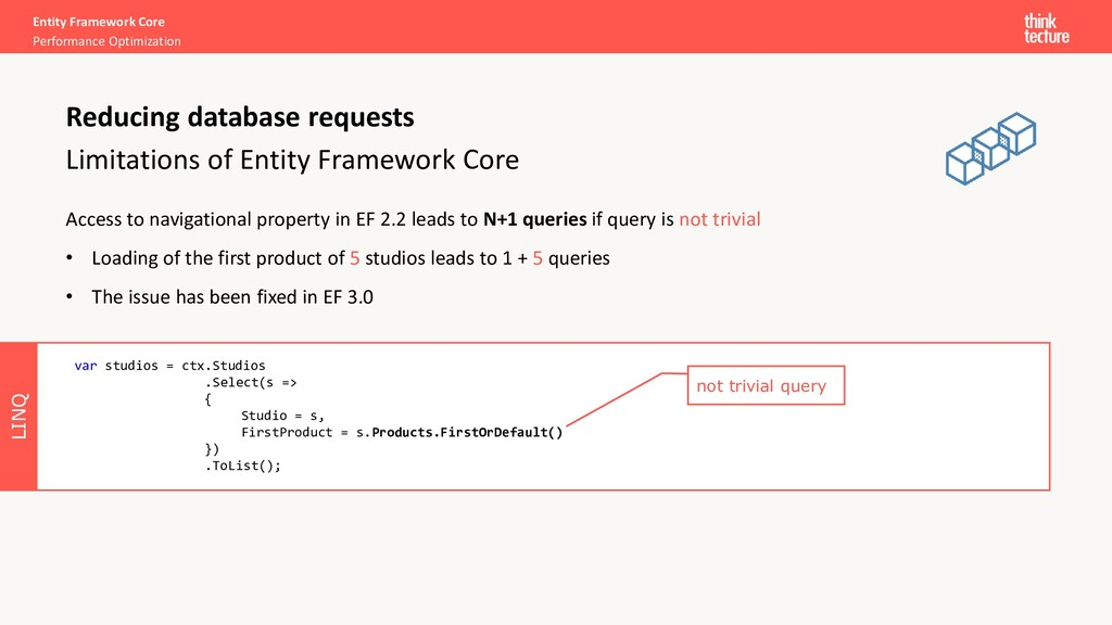 LINQ Entity Framework Core Performance Optimiza...