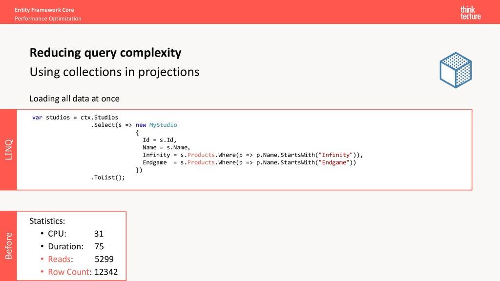 Before Entity Framework Core Performance Optimi...