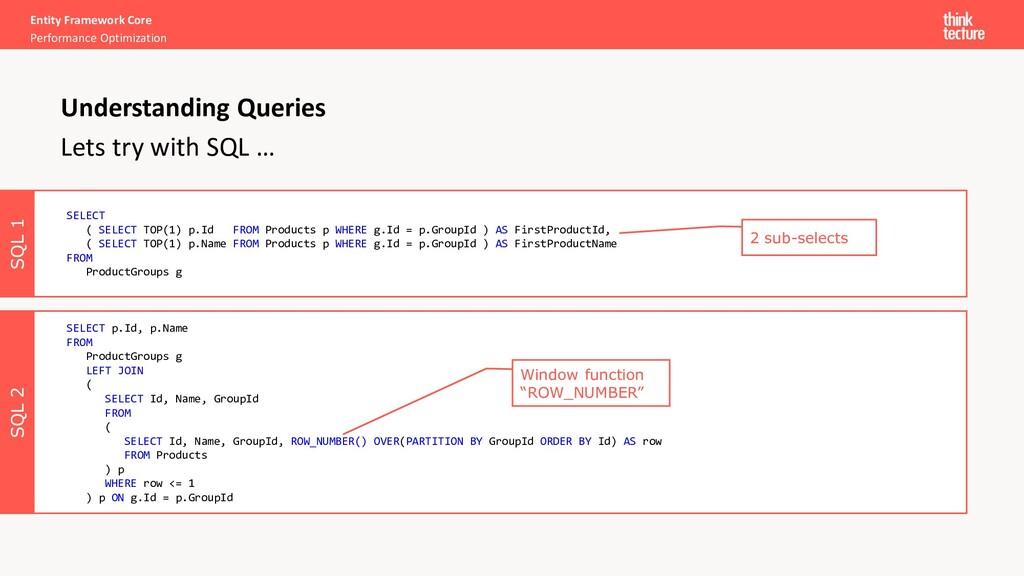 SQL 2 SQL 1 Entity Framework Core Performance O...