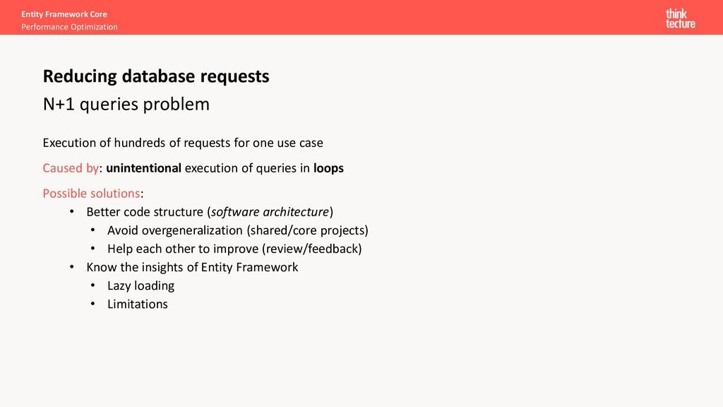 Entity Framework Core Performance Optimization ...