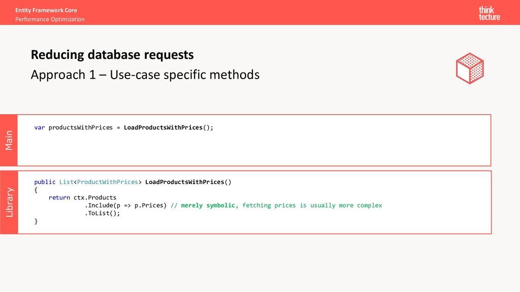 Library Main Entity Framework Core Performance ...