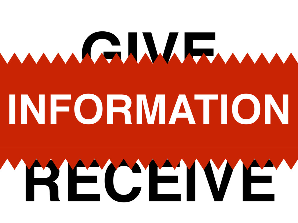 RECEIVE GIVE INFORMATION