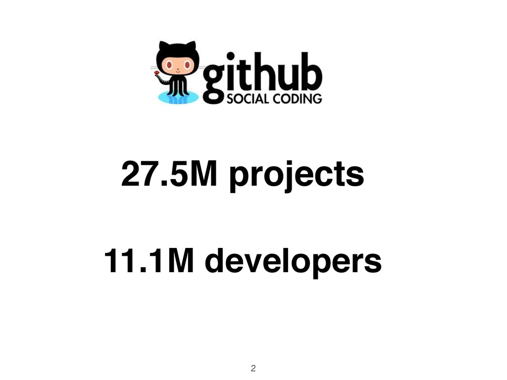 2 27.5M projects 11.1M developers