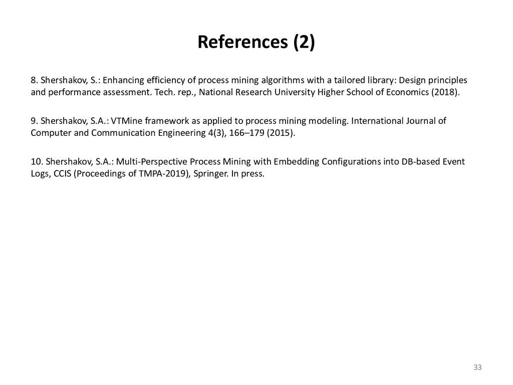 References (2) 8. Shershakov, S.: Enhancing eff...