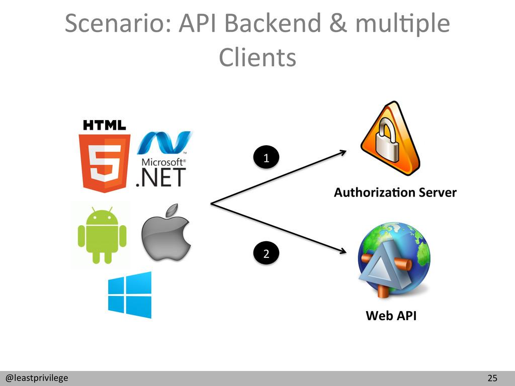 25  @leastprivilege  Scenario: API ...