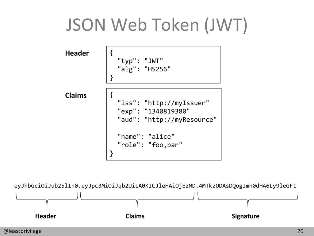 26  @leastprivilege  JSON Web Token...