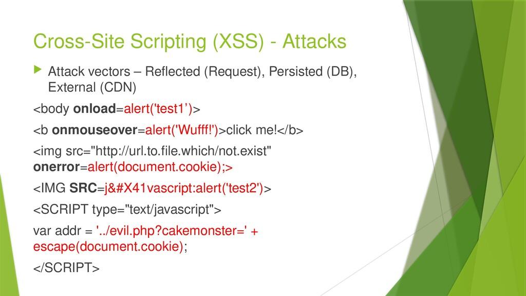 Cross-Site Scripting (XSS) - Attacks  Attack v...