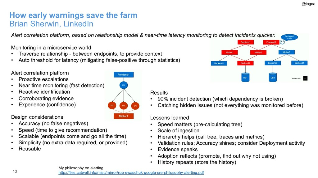 13 How early warnings save the farm Brian Sherw...