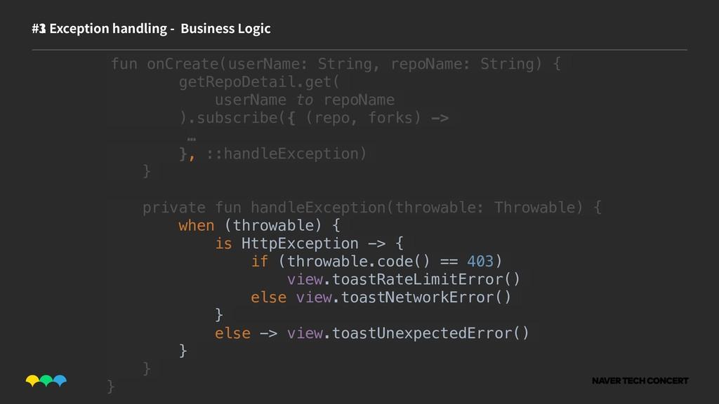 #1 #3 Exception handling - Business Logic fun o...