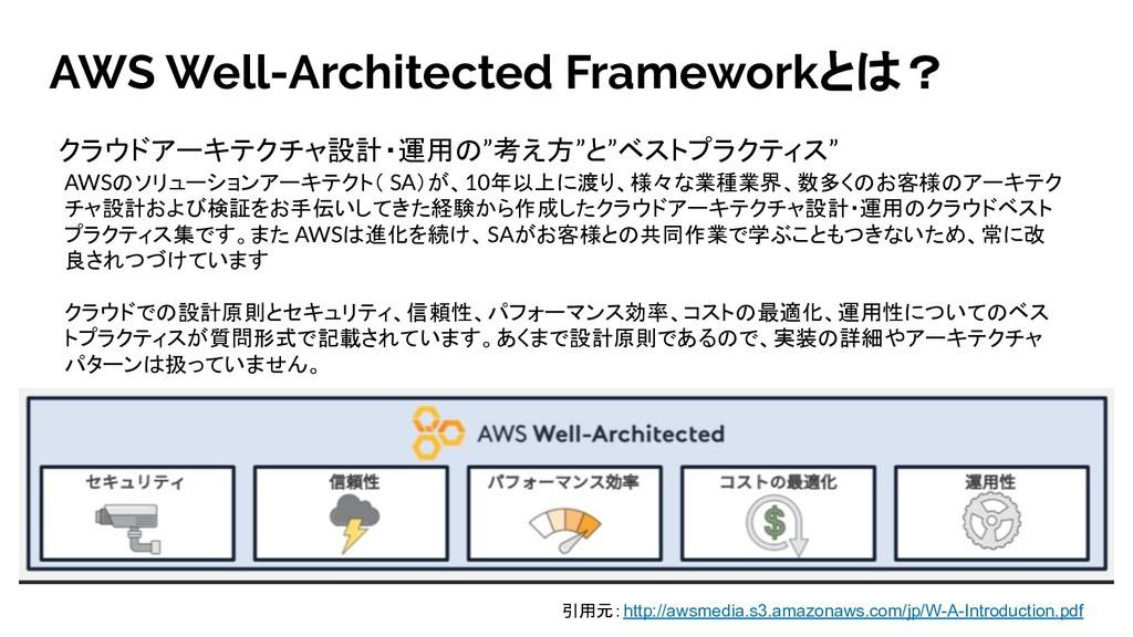 AWS Well-Architected Frameworkとは? AWSのソリューションアー...